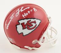 "Emmitt Thomas Signed Chiefs Mini Helmet Inscribed ""HOF 08"" (Playball Ink Hologram) at PristineAuction.com"