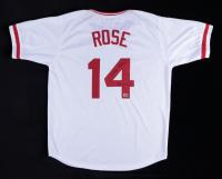 "Pete Rose Signed Jersey Inscribed ""4256"" (Rose Hologram) (See Description) at PristineAuction.com"