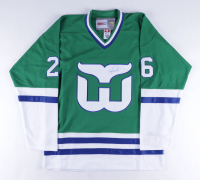 Ray Ferraro Twice-Signed Whalers Jersey (Beckett COA) at PristineAuction.com