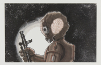 """Tom Hodges - Set of (6) """"Star Wars"""" Bounty Hunters - 11"""" x 17"""" Prints at PristineAuction.com"""