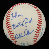 """Allan Anderson Signed OAL Baseball Inscribed """"Best of Luck"""" (Beckett COA) (See Description) at PristineAuction.com"""