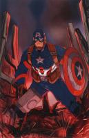 "Tom Hodges - Captain America - Marvel Comics - Signed 11"" x 17"" Print LE #/20 (PA COA) at PristineAuction.com"
