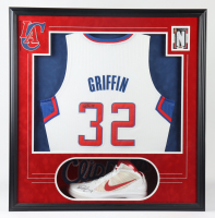 Blake Griffin Signed Clippers 33x34x6 Custom Framed Shadowbox Display (Beckett LOA) at PristineAuction.com