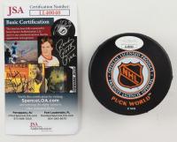 Justin Williams Signed Flyers Logo Hockey Puck (JSA COA) at PristineAuction.com
