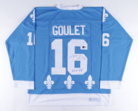 """Michel Goulet Signed Nordiques Jersey Inscribed """"H.O.F. 1998"""" (Beckett COA) at PristineAuction.com"""