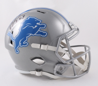 """Billy Sims Signed Lions Full-Size Speed Helmet Inscribed """"80-R.O.Y."""" (Beckett Hologram) (See Description) at PristineAuction.com"""