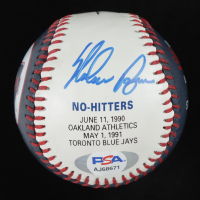 Nolan Ryan Signed Rangers Logo Baseball (PSA COA) at PristineAuction.com