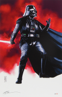 """Tom Hodges - Darth Vader - """"Star Wars"""" - Signed 11"""" x 17"""" Lithograph LE #/20 (PA COA) at PristineAuction.com"""