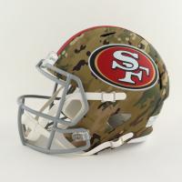 Trey Lance Signed 49ers Full-Size Camo Alternate Speed Helmet (Beckett Hologram) (See Description) at PristineAuction.com