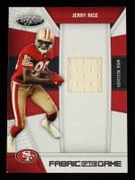 Jerry Rice 2010 Certified Fabric of the Game #73 #184/250 at PristineAuction.com