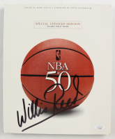 """Willis Reed Signed """"NBA At 50: Special Updated Edition"""" Softcover Book (JSA COA) at PristineAuction.com"""