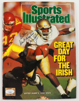 """Lou Holtz Signed 1988 Sports Illustrated Magazine Inscribed """"Best Wishes"""" (JSA COA) at PristineAuction.com"""