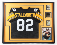 "John Stallworth Signed 34x41 Custom Framed Jersey Inscribed ""HOF 02"" (Beckett LOA) (See Description) at PristineAuction.com"