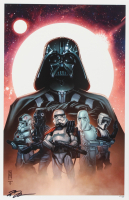 """Tom Hodges - Lord Vader & Imperial Troopers - """"Star Wars"""" - Signed 11"""" x 17"""" Lithograph LE #/20 (PA COA) at PristineAuction.com"""
