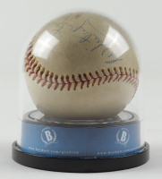 """Mickey Mantle & Whitey Ford Signed OAL Baseball with High Quality Display Case Inscribed """"Best Wishes"""" (BGS Encapsulated) at PristineAuction.com"""