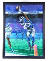 Odell Beckham Jr. Signed LE 33.5x43 Custom Framed Lithograph (Beckett LOA) at PristineAuction.com