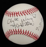 """Clyde Wright Signed OML Baseball inscribed """"No-Hitter 7-3-70"""" (Beckett COA) at PristineAuction.com"""