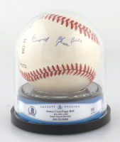 """James """"Cool Papa"""" Bell Signed ONL Baseball with Beckett Display Case (BGS Encapsulated) at PristineAuction.com"""