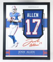 Josh Allen Signed 35.5x43.5 Custom Framed Jersey (Beckett LOA) at PristineAuction.com