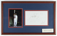 Muhammad Ali Signed 20.5x13 Custom Framed Photo Display with Signed Ali Vs. Frazier Drawing (PSA LOA & Beckett LOA) (See Description) at PristineAuction.com