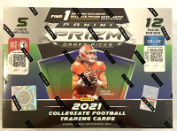 2021 Panini Prizm Draft Picks Football Mega Box (Gold Ice Prizms) with (12) Packs at PristineAuction.com