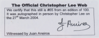 """Christopher Lee Signed LE """"Star Wars: Attack Of The Clones"""" 8x10 Photo (BGS Encapsulated) at PristineAuction.com"""