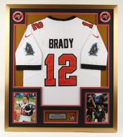 Tom Brady 32x36 Custom Framed Jersey Display with Super Bowl LIV MVP Pin (See Description) at PristineAuction.com