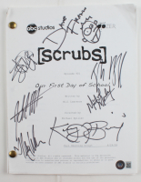 """""""Scrubs: Our First Day Of School"""" Episode Script Signed by (7) with Zach Braff, John C. McGinley, Dave Franco, Kerry Bishe (Beckett LOA) at PristineAuction.com"""