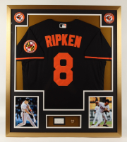 Cal Ripken Jr. Signed 32x36 Custom Framed Cut Display with Vintage Orioles World Series Pin (PSA COA) (See Description) at PristineAuction.com