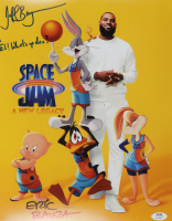 """Jeff Bergman & Eric Bauza Signed """"Space Jam: A New Legacy"""" 11x14 Photo Inscribed """"Eh! What's up Doc?"""" (PSA Hologram) at PristineAuction.com"""
