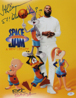 """Jeff Bergman & Eric Bauza Signed """"Space Jam: A New Legacy"""" 11x14 Photo Inscribed """"Eh! What's up Lebron?"""" (PSA Hologram) at PristineAuction.com"""