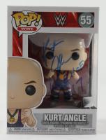 "Kurt Angle Signed WWE #55 Funko Pop! Vinyl Figure Inscribed ""WWE HOF '17"" (JSA COA) (See Description) at PristineAuction.com"