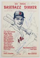 1984 36th Annual Baseball Dinner Program Signed by (12) with Carl Yastrzemski, Wade Boggs, Rolland Hemond, Steve Balboni (Beckett LOA) (See Description) at PristineAuction.com