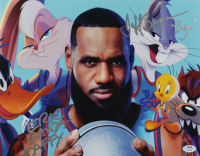 """Jeff Bergman & Eric Bauza Signed """"Space Jam: A New Legacy"""" 11x14 Photo Inscribed """"Bugs"""" & """"Daffy"""" (PSA Hologram) at PristineAuction.com"""