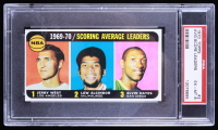 Jerry West / Lew Alcindor / Elvin Hayes 1970-71 Topps #2 LL SP (PSA 6) at PristineAuction.com