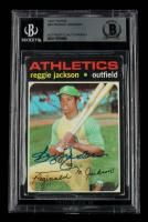 Reggie Jackson Signed 1971 Topps #20 (BGS Encapsulated & TriStar Hologram) at PristineAuction.com