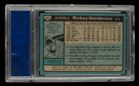 Rickey Henderson 1980 Topps #482 RC / UER 7 steals at / Modesto should be Fresno (PSA 9) at PristineAuction.com
