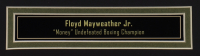 Floyd Mayweather Jr. Signed 35x43 Custom Framed Trunks Display (Beckett COA) (See Description) at PristineAuction.com
