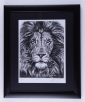 """Anthony Douglas Signed """"The King"""" LE 19x23 Custom Framed Print Display (PA LOA) at PristineAuction.com"""