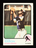 Hank Aaron 1973 Topps #100 at PristineAuction.com