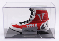 Mike Tyson Signed Title Boxing Shoe with Display Case (PSA COA) (See Description) at PristineAuction.com