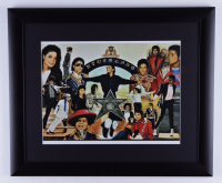 """Anthony Douglas Signed """"King of Pop"""" LE 19x23 Custom Framed Print Display (PA LOA) (See Description) at PristineAuction.com"""