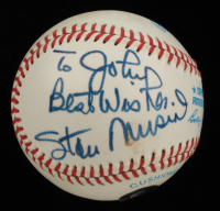 """Stan Musial Signed OAL Baseball Inscribed """"Best Wishes"""" (Beckett COA) at PristineAuction.com"""