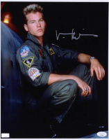 "Val Kilmer Signed ""Top Gun"" 11x14 Photo (JSA COA) (See Description) at PristineAuction.com"