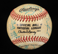 1986 Brewers and Twins ONL Baseball Signed by (20) with Robin Yount, Bert Blyleven, Dan Plesac, Greg Gagne (Beckett LOA) at PristineAuction.com