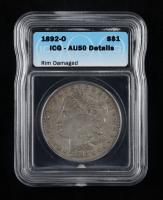 1892-O Morgan Silver Dollar (ICG AU50 Details) (Rim Damaged) at PristineAuction.com