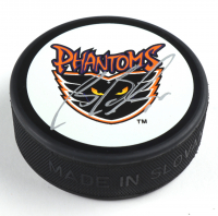 Brian Boucher Signed Phantoms Logo Hockey Puck with Display Case (JSA COA) at PristineAuction.com