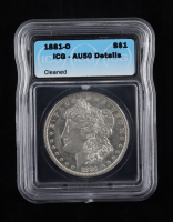 1881-O Morgan Silver Dollar (ICG AU50 Details) (Cleaned) at PristineAuction.com