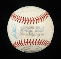 1976 Cubs ONL Baseball Signed by (26) with Rick Monday, Bruce Sutter, Bill Buckner, Bill Madlock (Beckett LOA) at PristineAuction.com