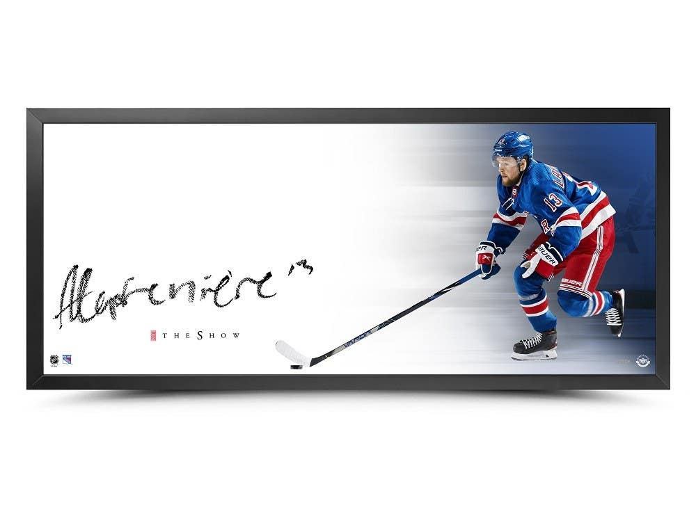 Alexis Lafreniere Signed Rangers 18x44 Custom Framed Print Display (UDA Hologram) at PristineAuction.com